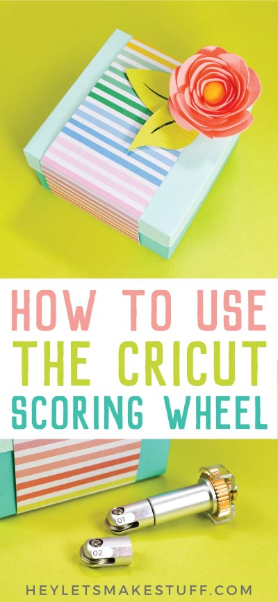 The new Cricut Scoring Wheel cures all of your scoring woes! If you're tired of  faint score lines or cracking materials, the Cricut Scoring Wheel is here to help!