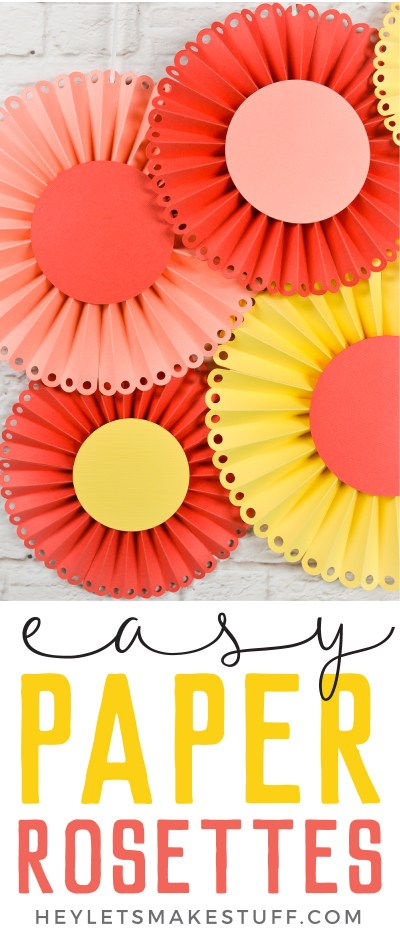 Create these gorgeous paper rosettes for a baby shower, bridal shower or wedding. I will show you how to do it using the Cricut Scoring Wheel.