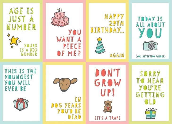 Give the gift of laughter and more with these Funny Printable Birthday Cards! You and the birthday guy or gal will appreciate the giggles!