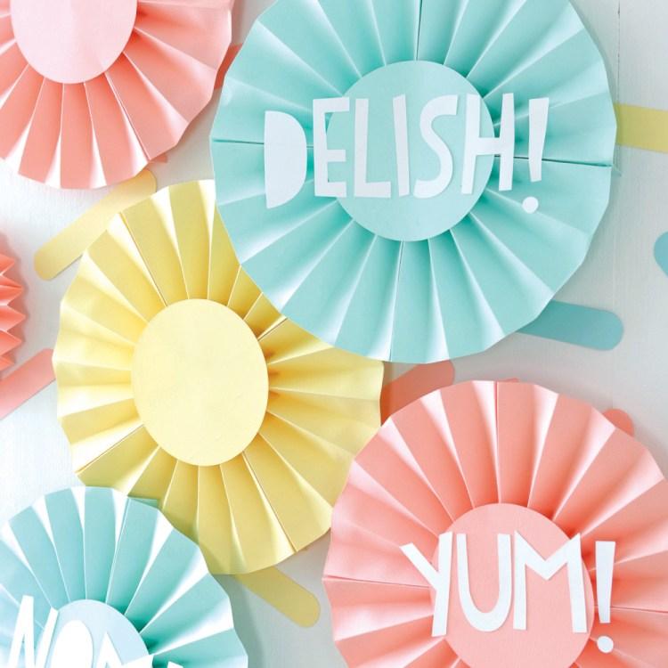 Paper Party - Ice Cream Rosettes