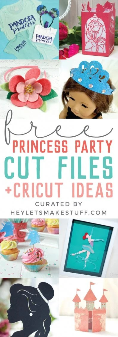 Throwing your little princess a party? You're in luck! These princess party ideas include magical decor, princess t-shirts, invitations, and more, designed to be cut on your Cricut or other cutting machine.