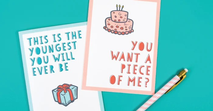 photograph relating to Funny Birthday Cards Printable known as Free of charge Amusing Printable Birthday Playing cards for Grown ups - 8 Options!