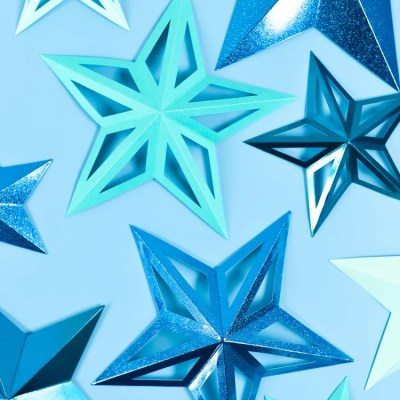 3D Paper Stars with the Cricut Scoring Wheel