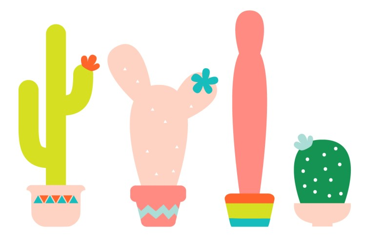 These super cute cactuses (or cacti, if you're feeling thesaurus-y) are so fun to make on your Cricut! Get the cactus SVG and PNG artwork, or make festive 3D versions, perfect for fiesta party decor!