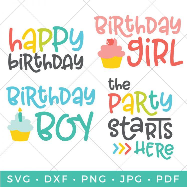 Birthday SVG Bundle Flash Freebie Hey Lets Make Stuff