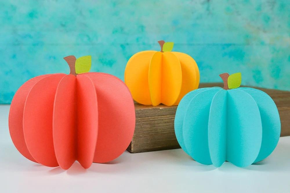 3D Paper Pumpkin Decor , Free SVG , Hey, Let\u0027s Make Stuff