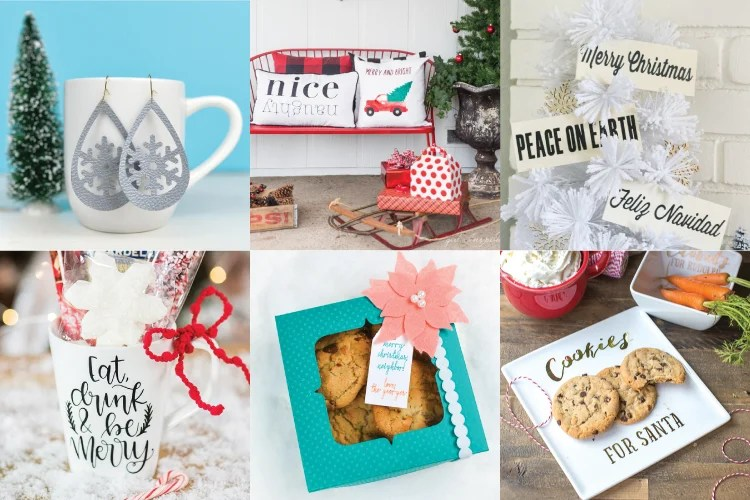 Let's get crafting for Christmas using the Cricut! Here are a ton of easy Cricut gift ideas that are easy and fun to make using your Explore or Maker!