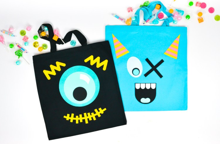 Final black and blue monster treat bags