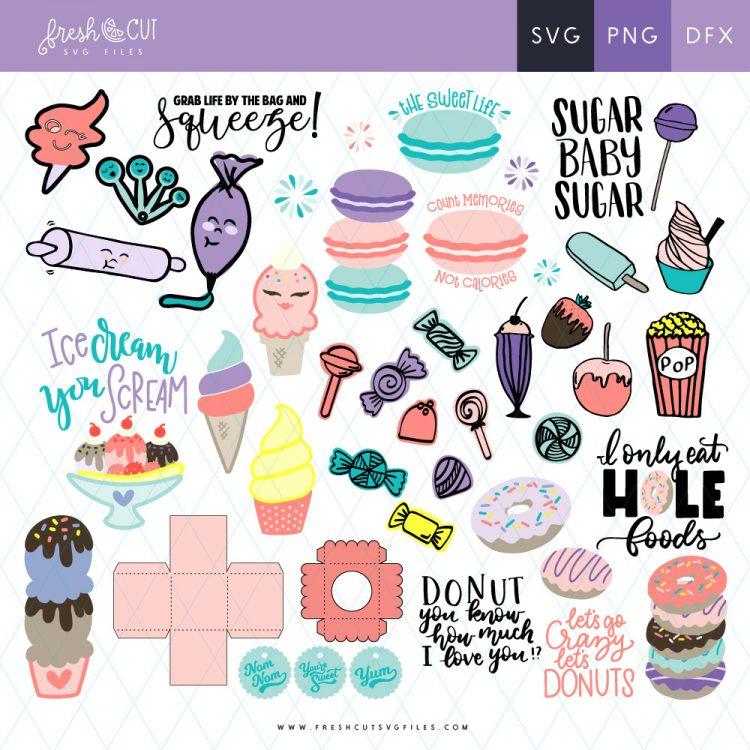 Sweet Shoppe SVG Cut Files Fresh Cut Bundles