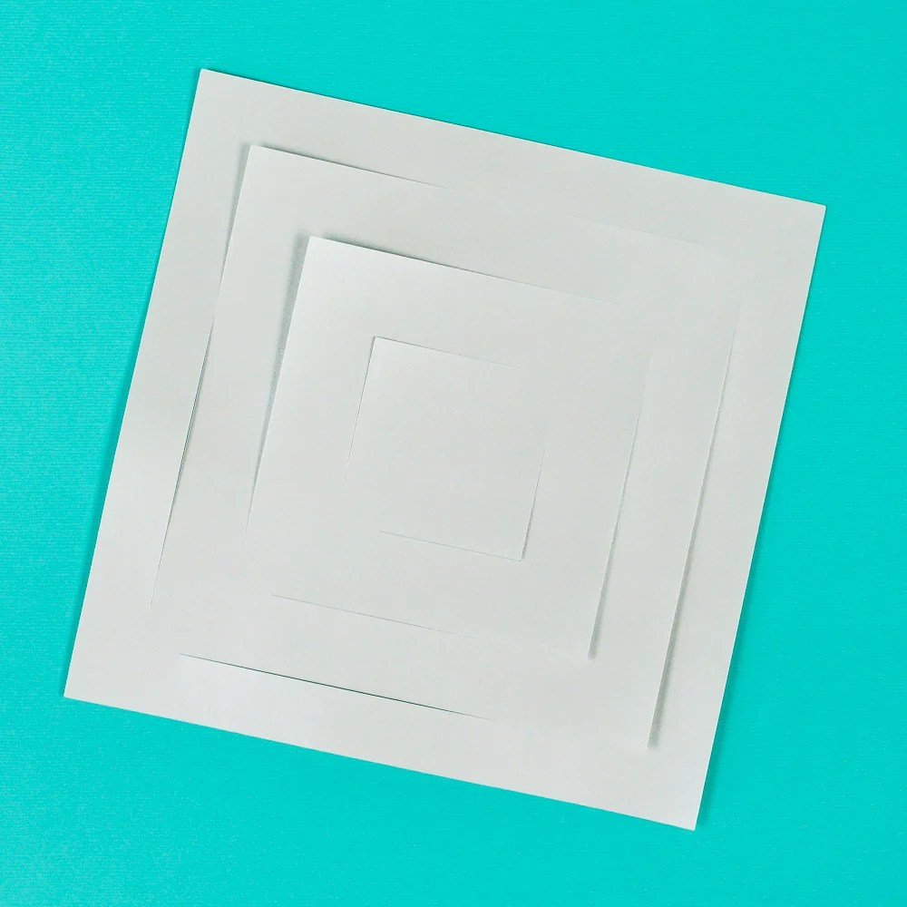 Flat piece of paper with cuts
