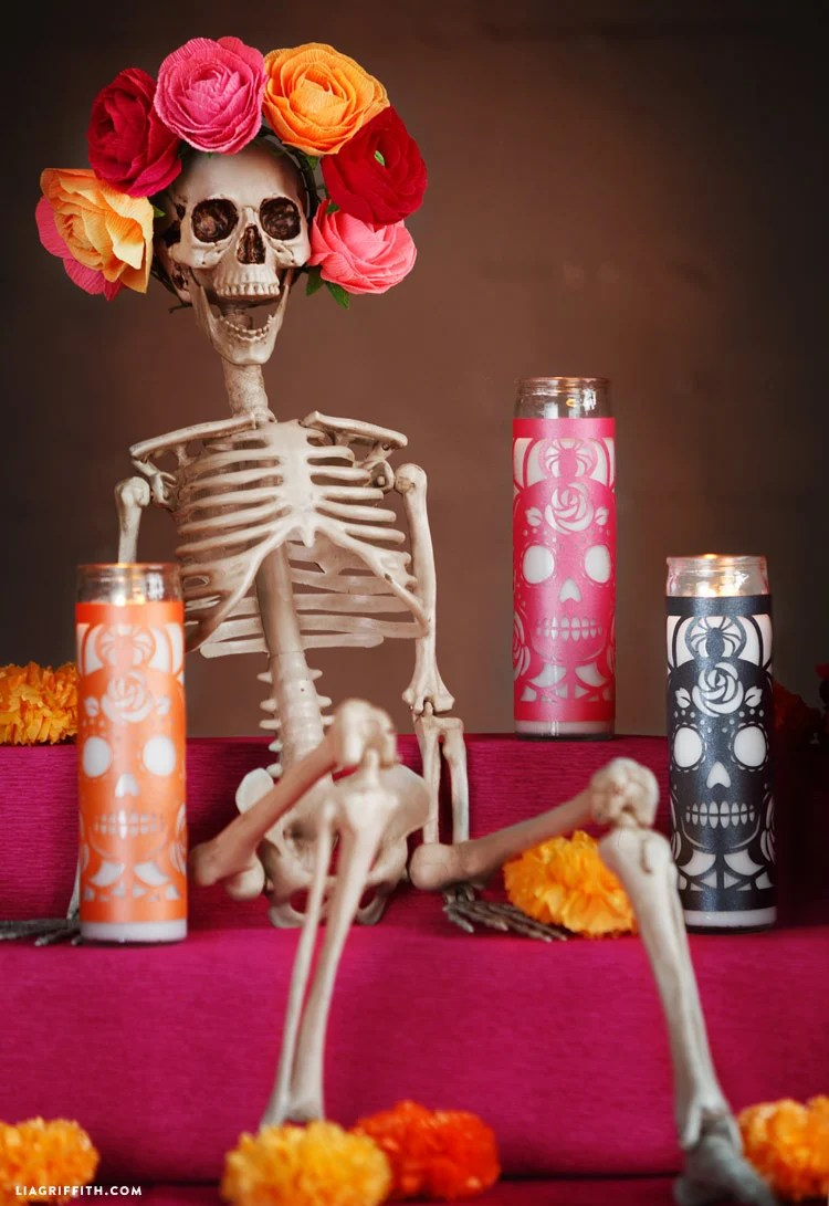 Day of the Dead Candle Wraps