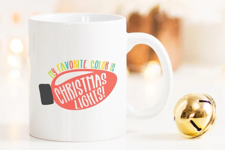 The office's dwight featured in one of our svgs! My Favorite Color Is Christmas Lights Svg Christmas Cut Files