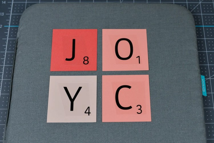 Using Iron On for Scrabble Letters