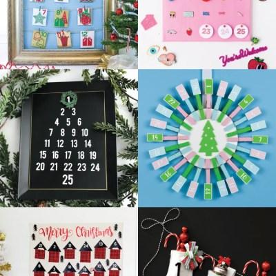 20+ DIY Cricut Advent Calendars