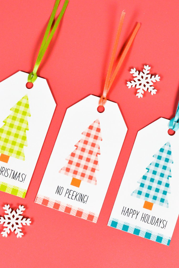 Buffalo Plaid Printable Christmas Gift Tags Hey Let S Make Stuff