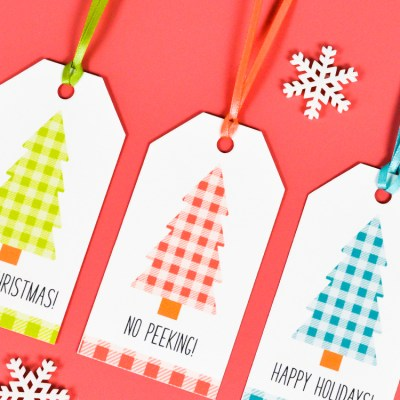 Buffalo Plaid Printable Christmas Gift Tags
