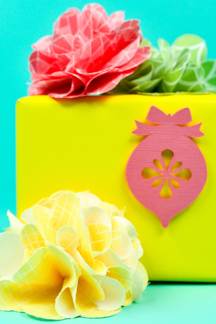 Flowers on Gift Box