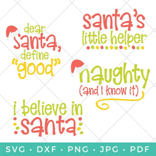 The big guy in red is the star of the show. This Santa SVG Bundle has everything you need to add a jolly touch to all your Christmas crafts and projects.