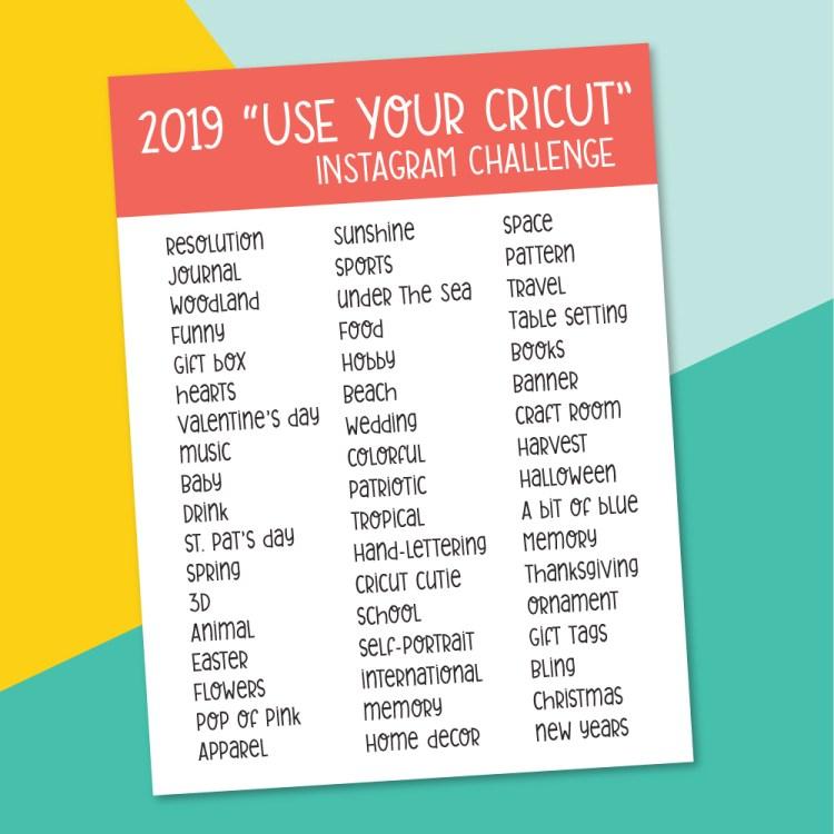 2019 Use Your Cricut Instagram Challenge