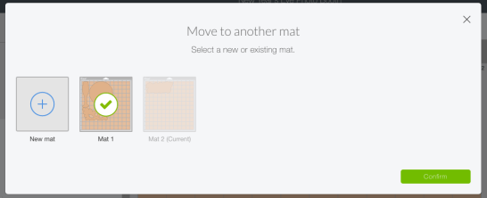 Use the Move to Another Mat feature in Design Space