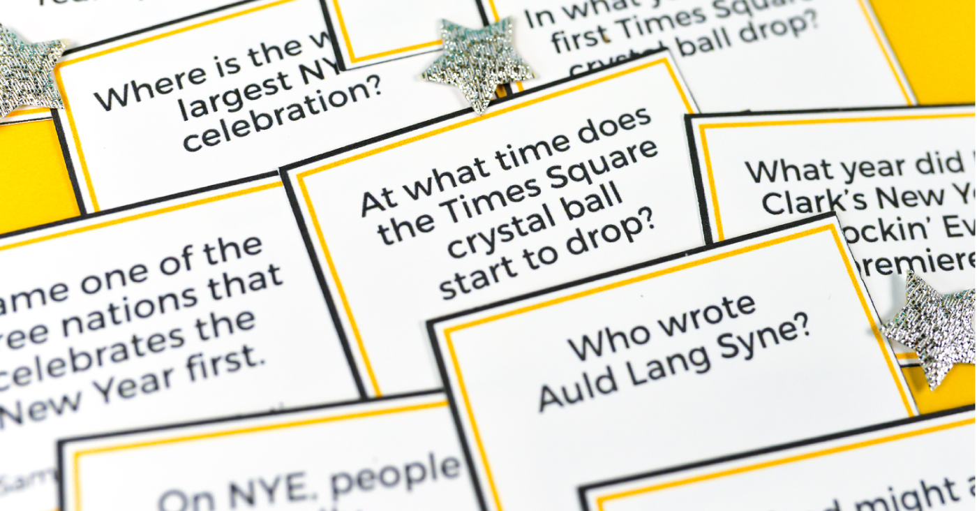 Printable New Year's Eve Trivia - Hey, Let's Make Stuff