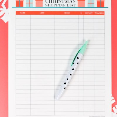 Printable Christmas Shopping List + Thank You Note Tracker