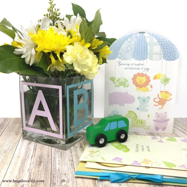 ABC Baby Block Vase with Free SVG Cut File