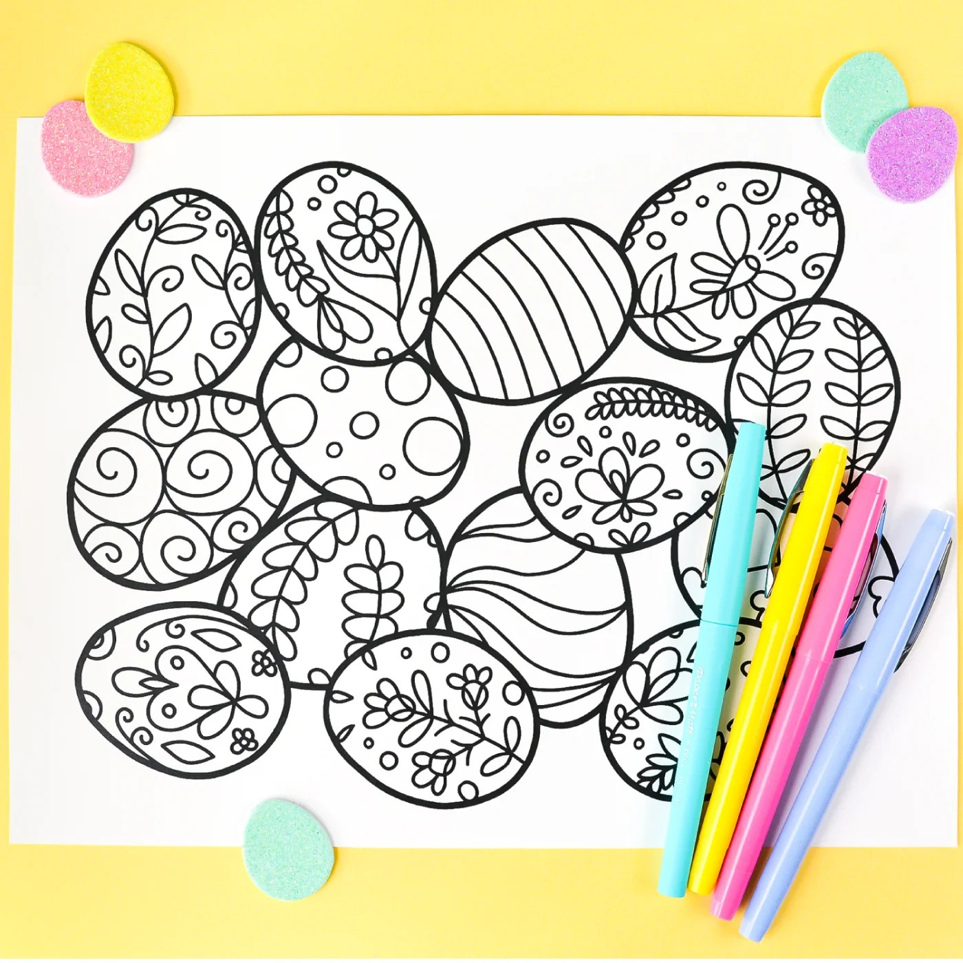 image relating to Printable Eggs named Cost-free Printable Easter Coloring Web page - Hey, Allows Create Things