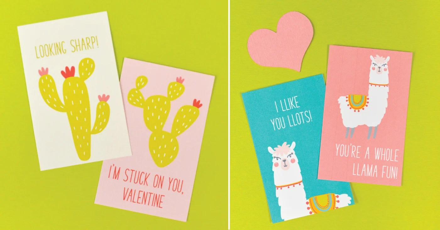 picture relating to Llama Printable called Free of charge Printable Llama Valentines - Hey, Makes it possible for Crank out Things
