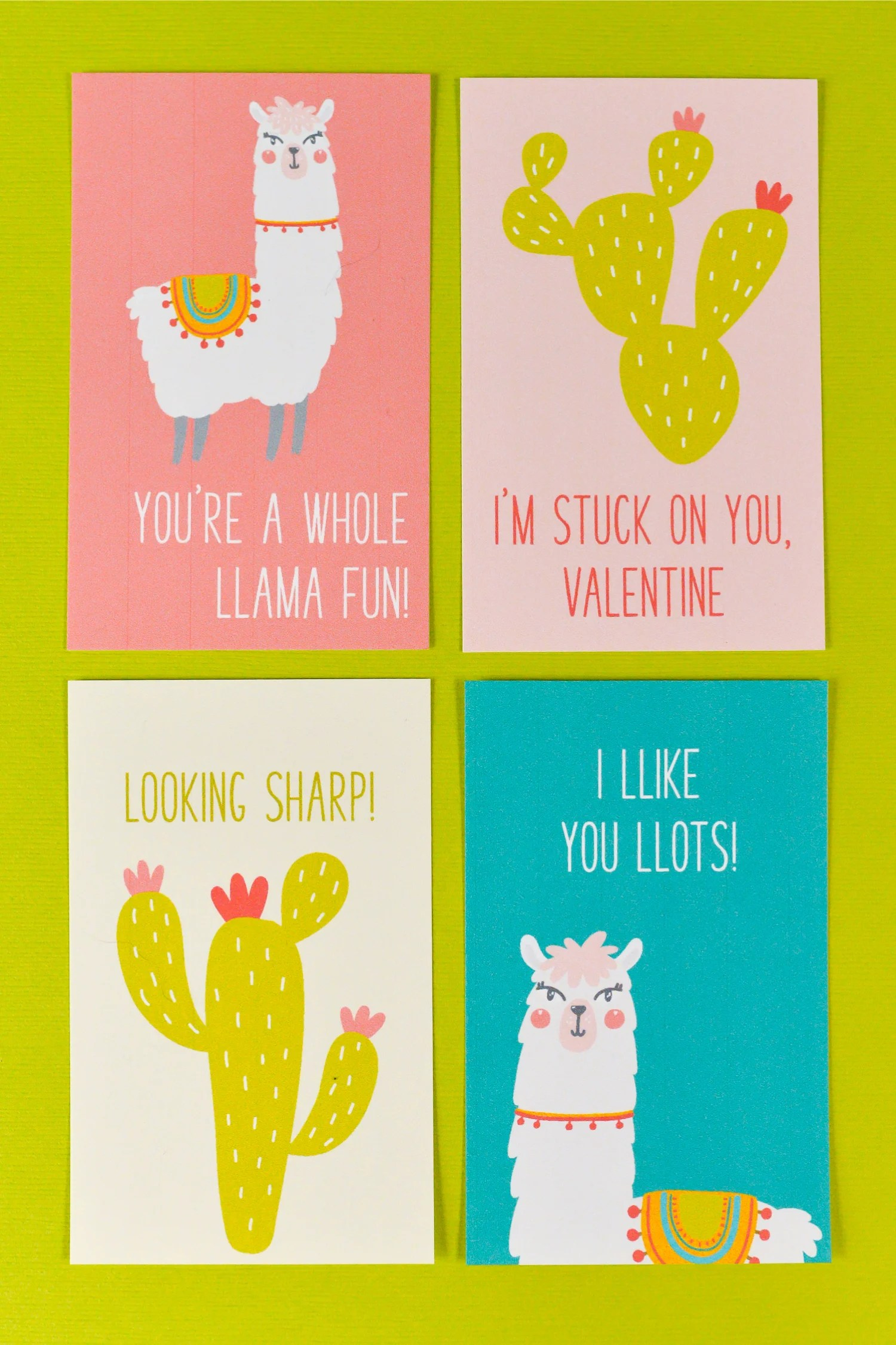 graphic relating to Printable Valentines named Cost-free Printable Llama Valentines - Hey, Permits Create Things
