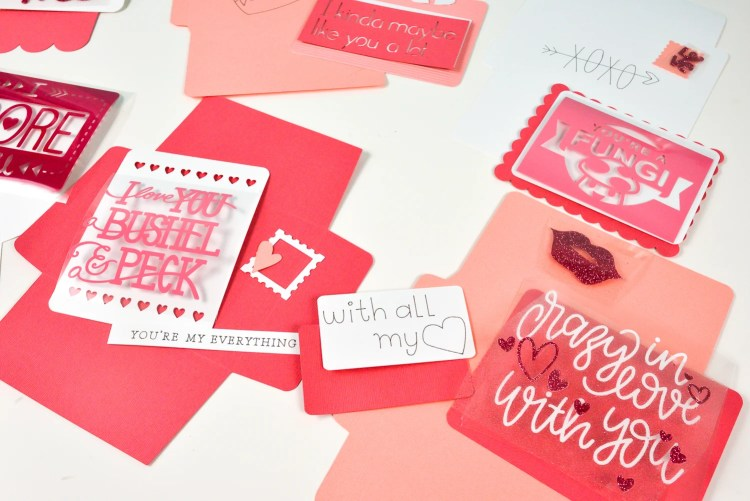Unassembled love letters for Cricut Love Letters