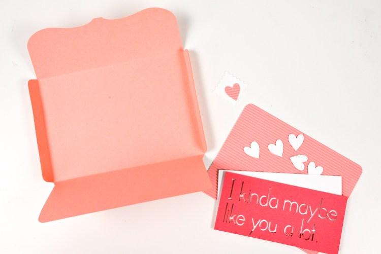 Fold envelopes and assemble cards