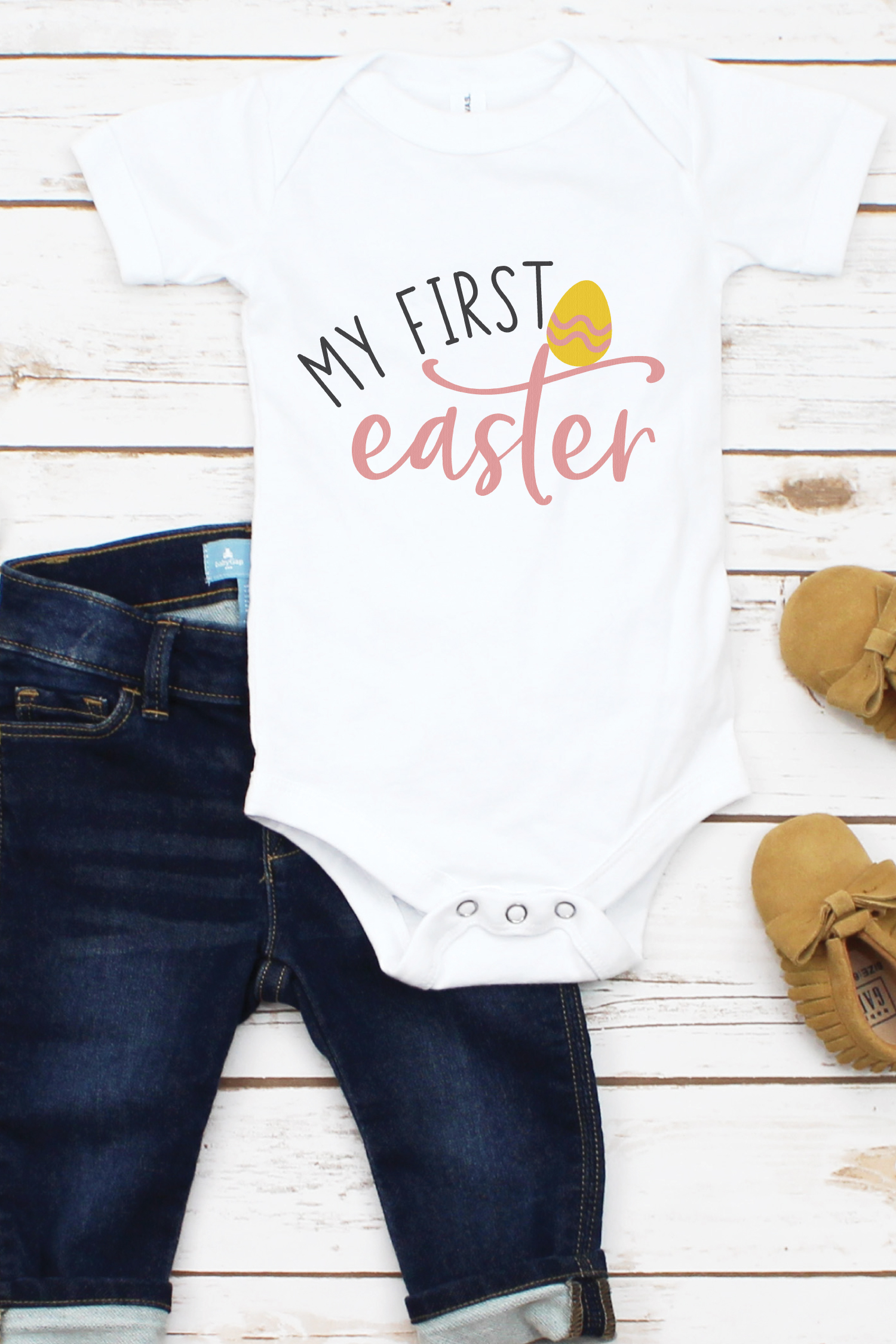 """Celebrate all of your little one's """"firsts"""" including their first spring holidays. Use this Baby's First Spring Holiday SVG Bundle to create memorable keepsakes for you and baby."""