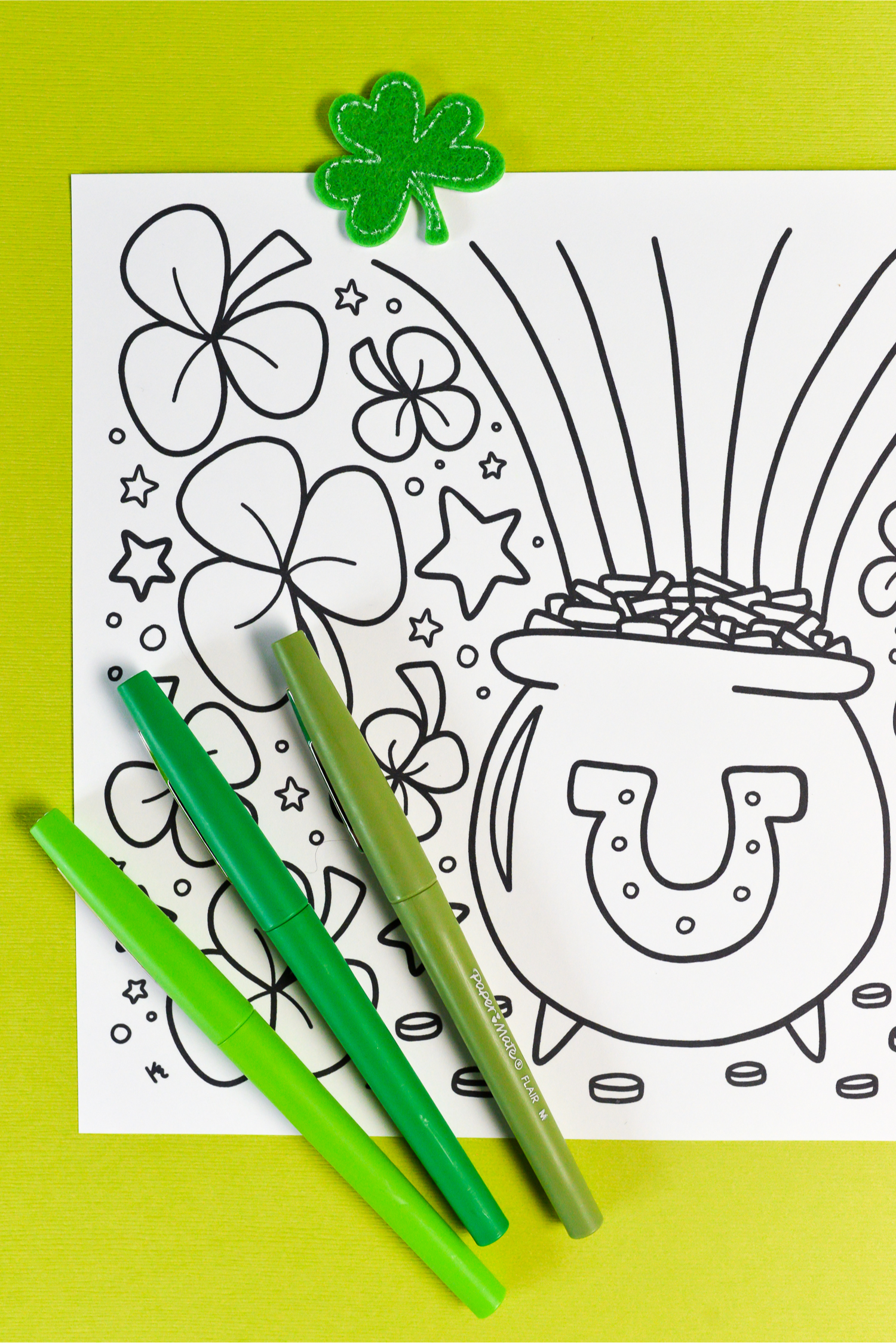 photograph regarding St Patrick's Printable Coloring Pages named Absolutely free Printable St. Patricks Working day Coloring Site - Hey, Permits