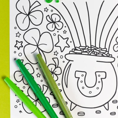 Free Printable St. Patrick's Day Coloring Page