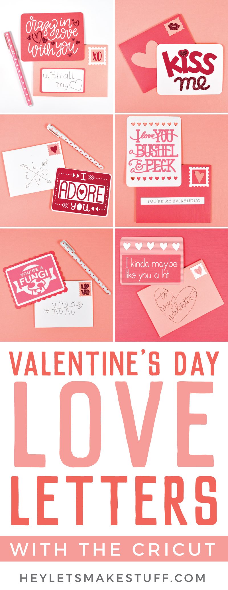 Let your spouse, kids, or bestie know how much you love them with these love letters made using the Cricut! A great Valentine's Day idea—though you can always remind someone of that you care year round! via @heyletsmakestuf