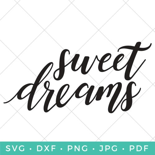 Doesn't this Sweet Dreams SVG just make you want to grab your favorite blankie and cuddle up for the night? From pillows to blankies to printable art work, get crafty with this slumbery sentiment SVG.