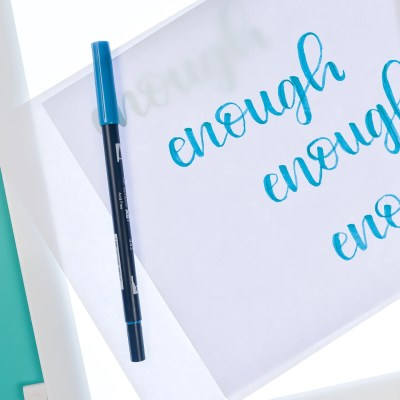 Using the Cricut Brightpad for Hand Lettering