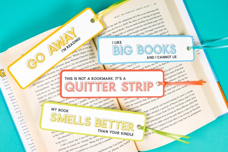 These funny bookmarks are the perfect fix any time you're diving into a particularly hilarious book!