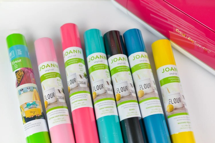 Different colors of vinyl from JOANN