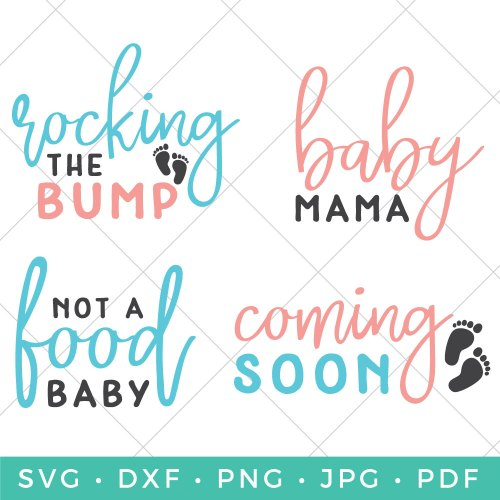 Are you sporting that baby bump? Or know someone who is? Announce it and wear it proud with this adorably sweet Flash Freebie Pregnancy SVG File Bundle.