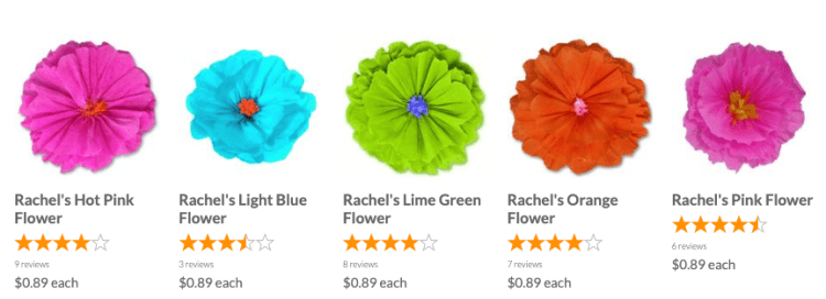 Tissue Paper Flowers from Amols'