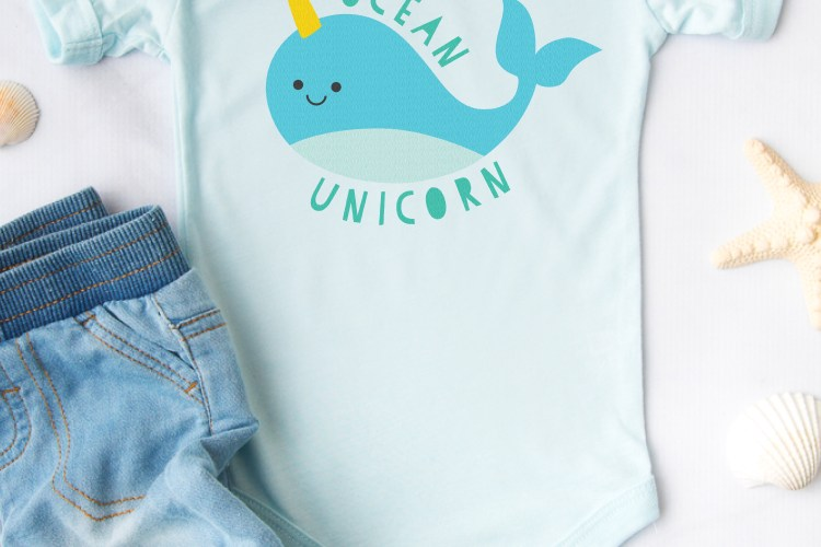 Download this friendly little narwhal SVG—he's basically just an ocean unicorn! Perfect for kids' shirts, water bottles, and more. Then grab 15 more FREE unicorn-themed cut files!