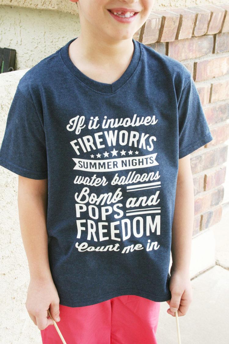 DIY shirt with patriotic cut files