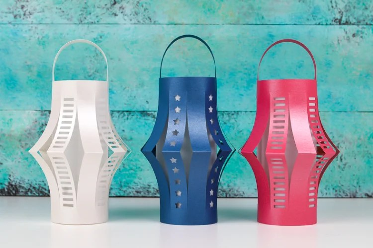 Free cut file for patriotic lanterns