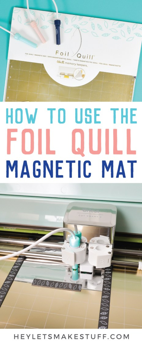 Make your Foil Quill projects quicker and easier with the Foil Quill Magnetic Mat! Instead of messing with tape on your project, use the metal mat and magnet strips to hold your foil to your project. Here's our review and a tutorial for how to use it!