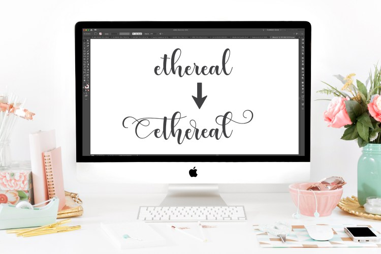 Many fonts come with extras, like glyphs, special characters, flourishes, ligatures, stylistic alternatives, and more! If you are making designs to cut on your Cricut, here's how to use glyphs in Adobe Illustrator to make your designs even more unique.