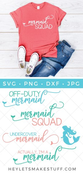 The mermaid vibe is strong and just in time to help you plan the summer of your fantasies. Grab these four mermaid cut files and get crafty!