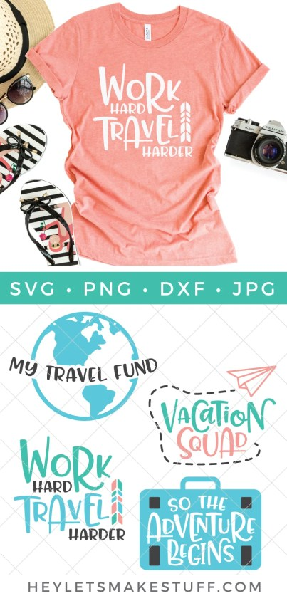 Buy the ticket, grab that passport and pack your bag because adventure awaits! This Vacation & Travel SVG Bundle will jumpstart your wanderlust so get ready!