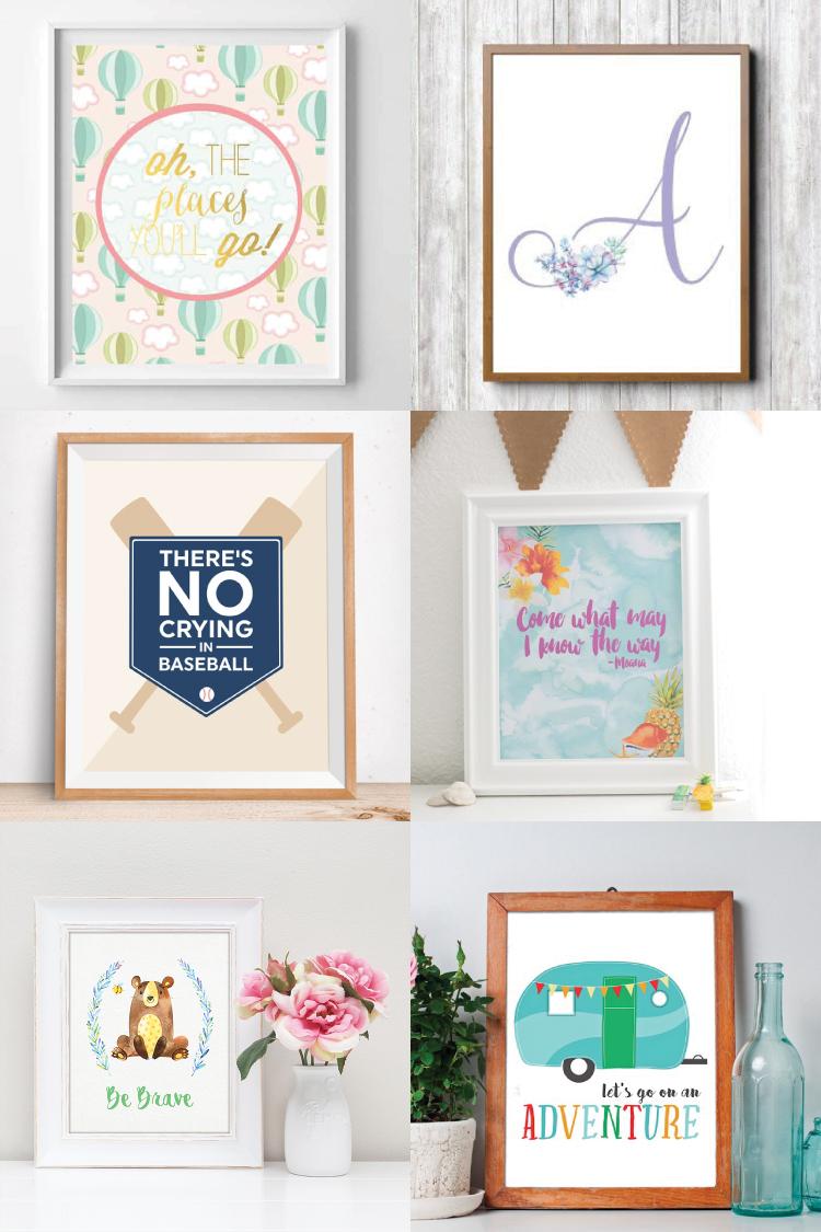 photograph regarding Free Printable Artwork referred to as The Easiest Free of charge Nursery Printables - Hey, Enables Create Things